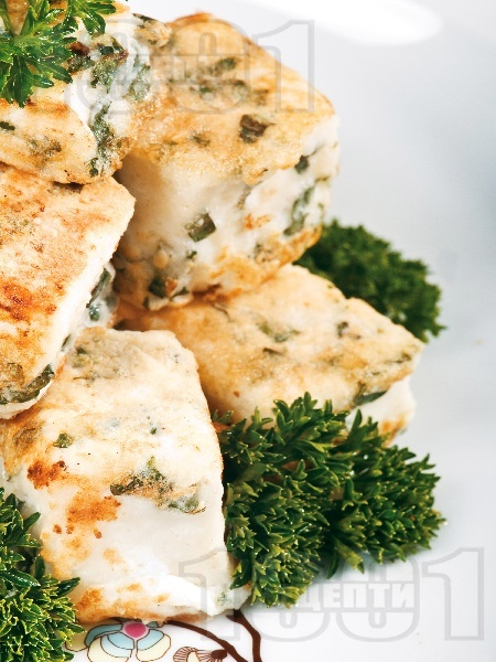 Халуми от козе сирене - снимка на рецептата